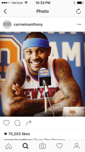 I don't follow basketball quite as much but I always thought Melo was a sexy man.