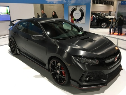 The Civic Type R. I'm waiting for the more practical and modet but slightly sporty Civic Si, which has yet to be unveiled. II'm pretty sure it will be released next month at the Detroit auto show.